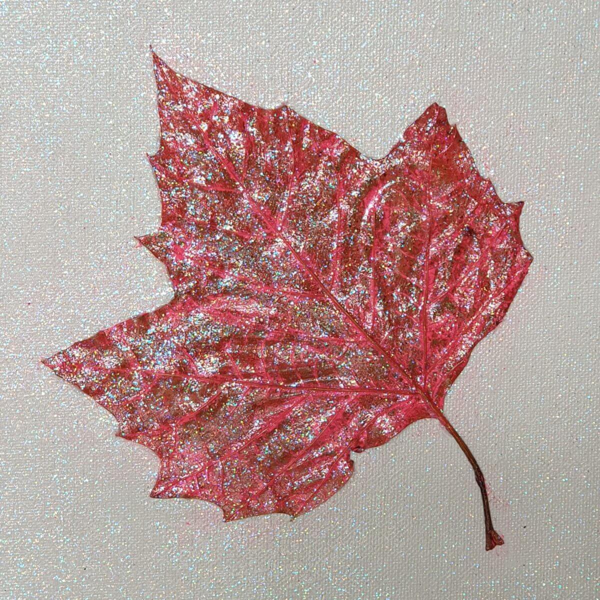 blad schilderen met modpodge