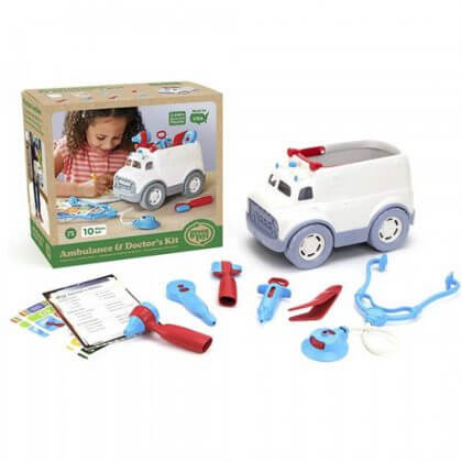 Green Toys ambulance