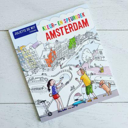 Toffe boeken over reizen en voertuigen voor de Kinderboekenweek: Kleur- en Speurboek Amsterdam