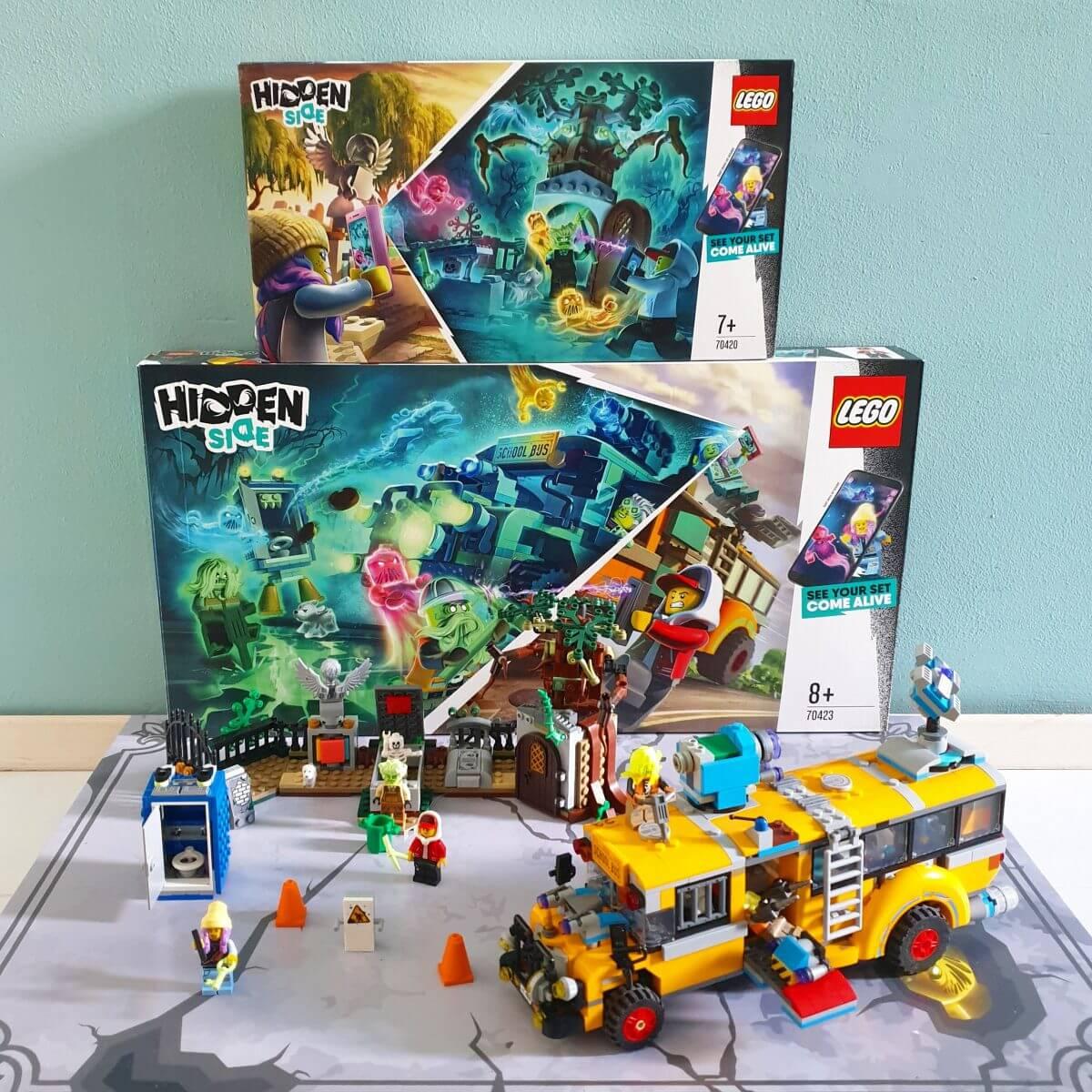 LEGO Hidden Side Paranormale interceptiebus 3000 (70423) en Kerkhofmysterie (70420)