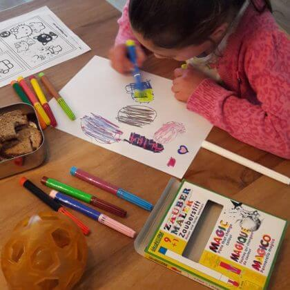 duurzame knutselmaterialen: lijm, verf, stiften en potloden