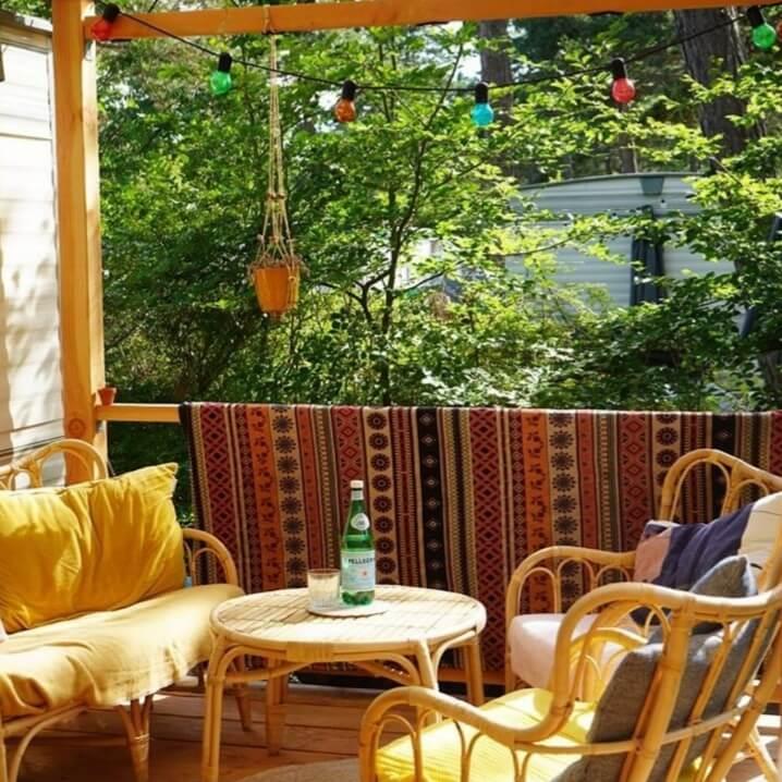 gepimpte stacaravan met veranda