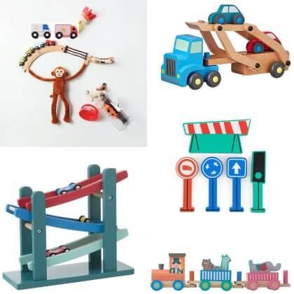Goedkoop én duurzaam houten speelgoed: auto´s enzo gespot bij de Hema