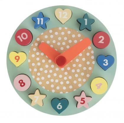 Goedkoop én duurzaam houten speelgoed: puzzel klok gespot bij de Hema