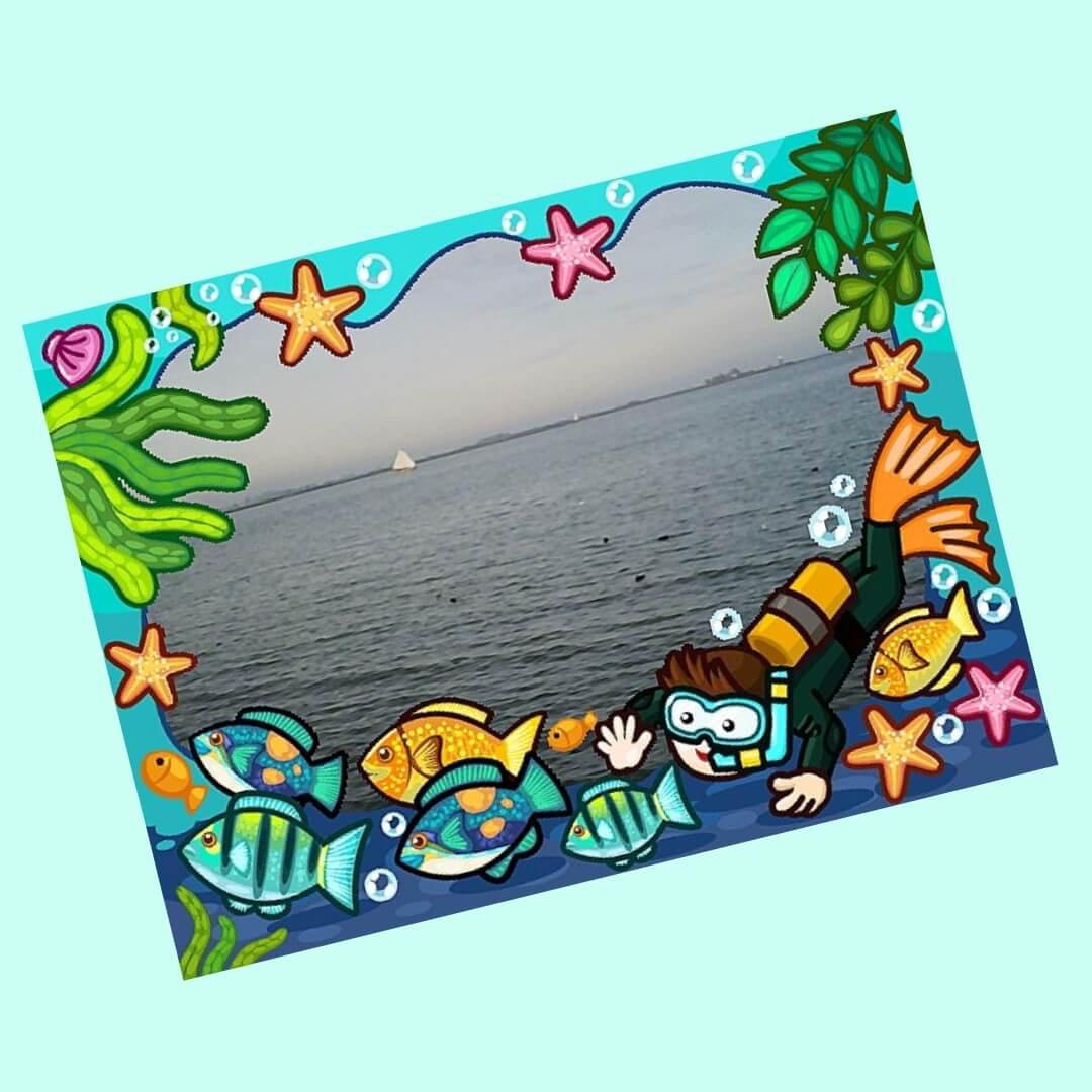 foto met frame