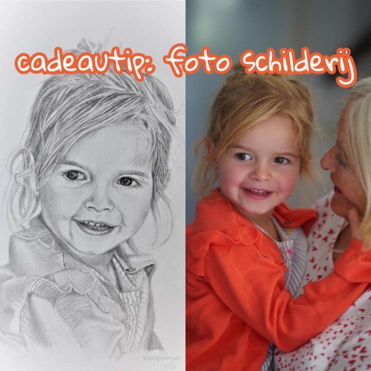Cadeautip voor de feestdagen: foto schilderij portret van je kind