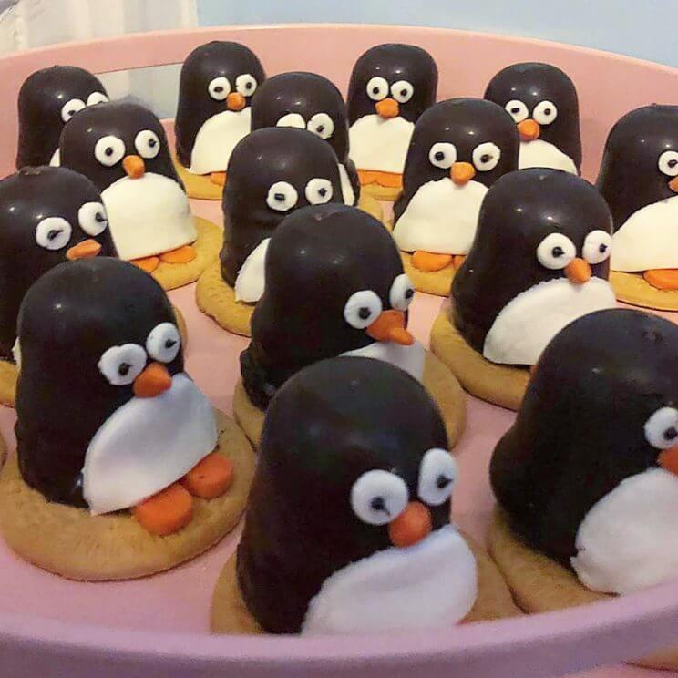 pinguïn koekjes traktatie