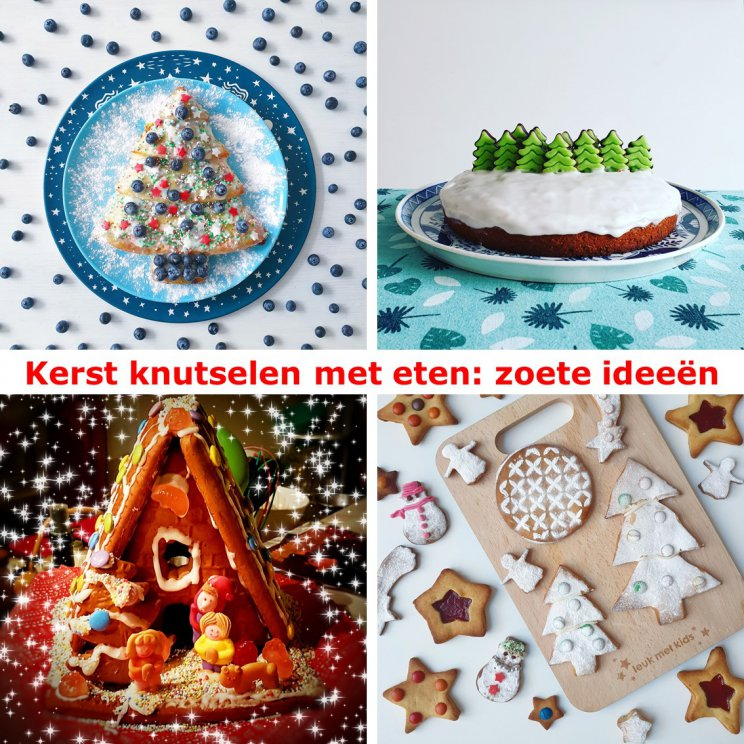 Kerst knutselen met eten: zoete recepten en ideeën