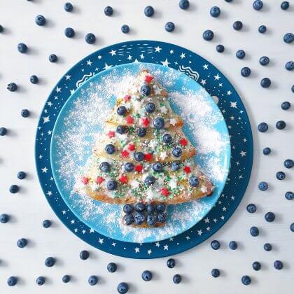 Kerst recept om te bakken: kerstboom cake