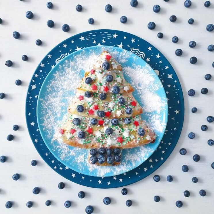 Recept voor kerst cake in de vorm van een kerstboom