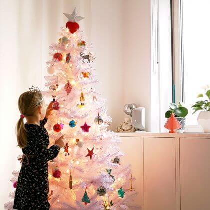 de kerstboom als achtergrond