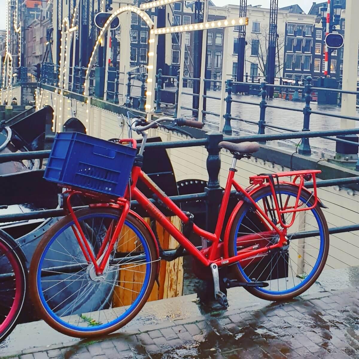 De Magere brug over de de Amstel in Amsterdam