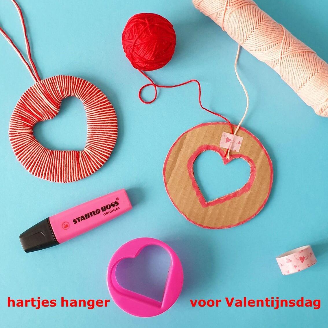 Hartje van wol voor Valentijnsdag knutselen 6