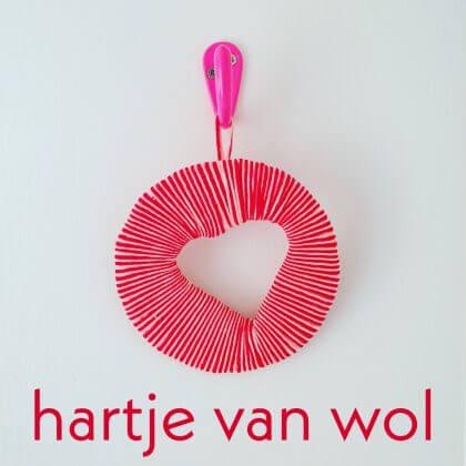 Hartjes hanger knutselen voor Valentijnsdag