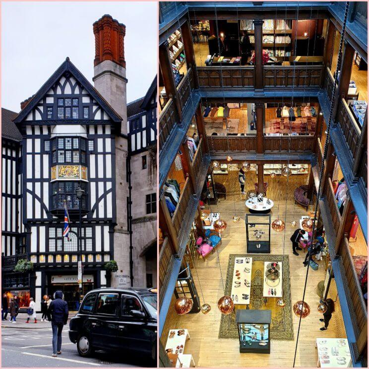 het typische Britse warenhuis Liberty in Londen