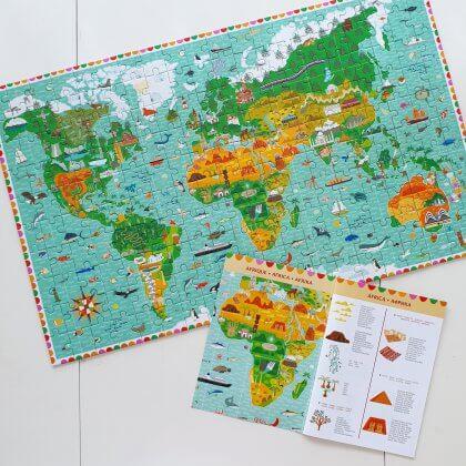Djeco puzzel reis rond de wereld, voor kinderen vanaf zes jaar