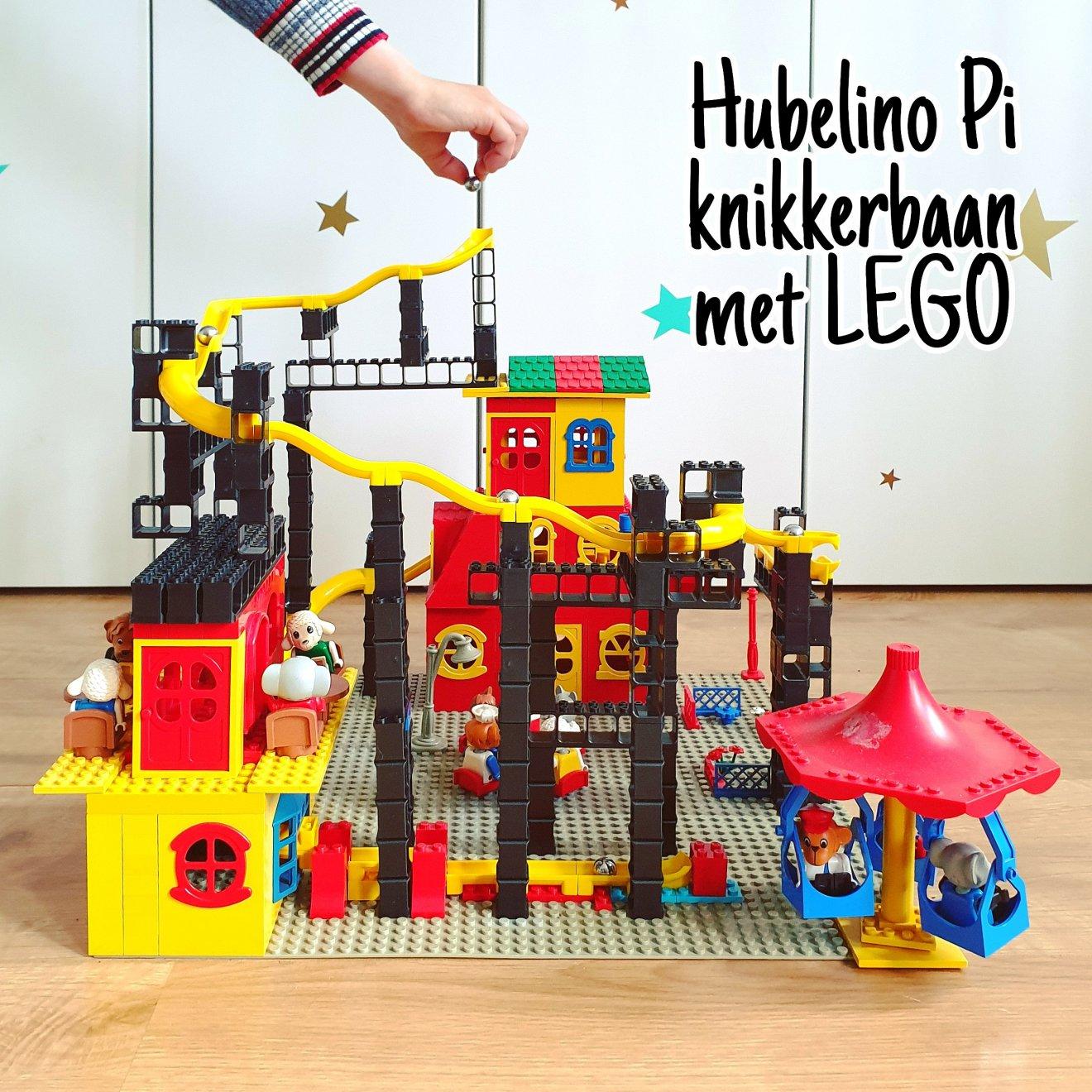 Hubelino Pi knikkerbaan: review en ideeën om te combinerenmet LEGO