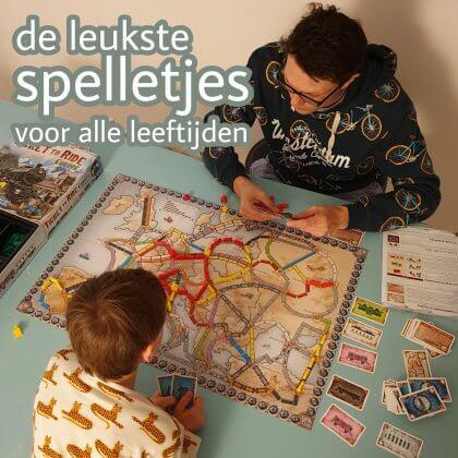 De leukste (bord)spelletjes voor peuters, kleuters, kinderen en tieners