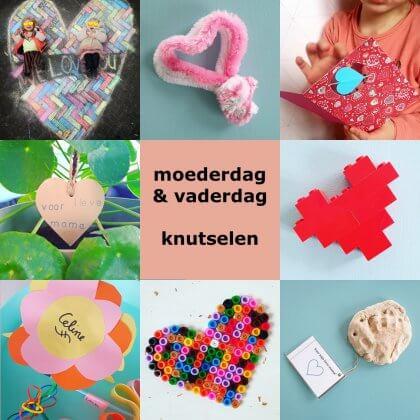 Nieuw Moederdag en Vaderdag: ideeën om te knutselen - Leuk met kids QZ-14