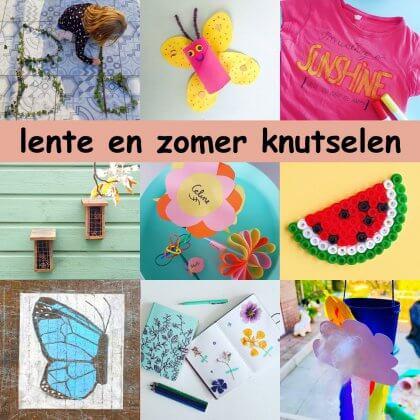 Hedendaags Lente en zomer knutselen: leuke ideeën voor kinderen - Leuk met kids ZC-27