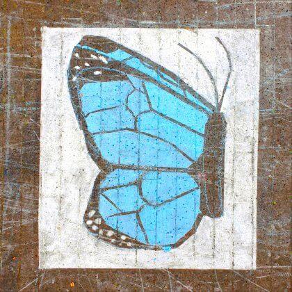 Stoepkrijt tekeningen maken: toffe tips en ideeën - vlinder