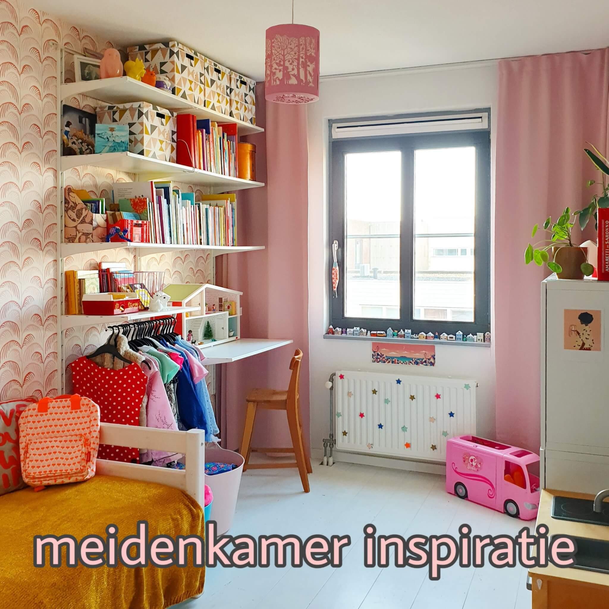 Kinderkamer inspiratie: onze meidenkamer met wit, roze, rood en geel