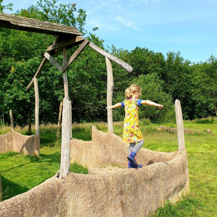 Diemerbos op de rand van Diemen en Amsterdam IJburg - spelen in speelbos het Banjerbossie
