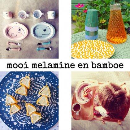 Onbreekbaar melamine en bamboe kinderservies
