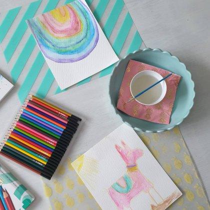101 ideeën om te knutselen met kinderen - aquarelpotloden voor kinderen