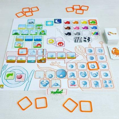 Concept kids, spelletje waarbij kinderen samen moeten werken