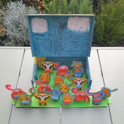 Traktatie ideeën voor kinderen op crèche of school - rozijnendoosjes in de vorm van dieren knutselen