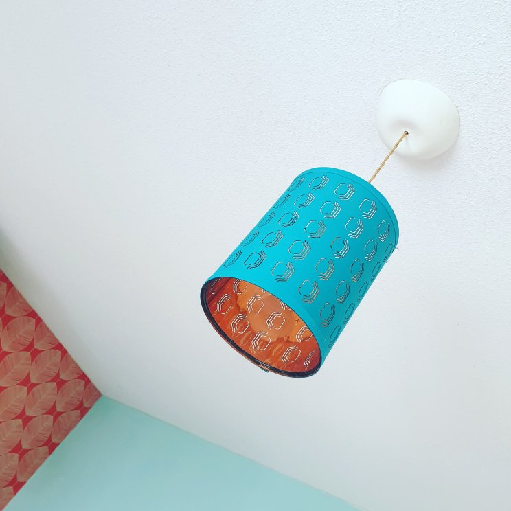 vintage look lampenkap en CableCup plafondkapje