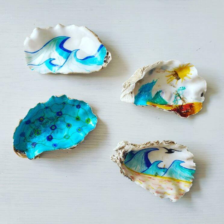 oesters tekenen: beschilderen met stiften