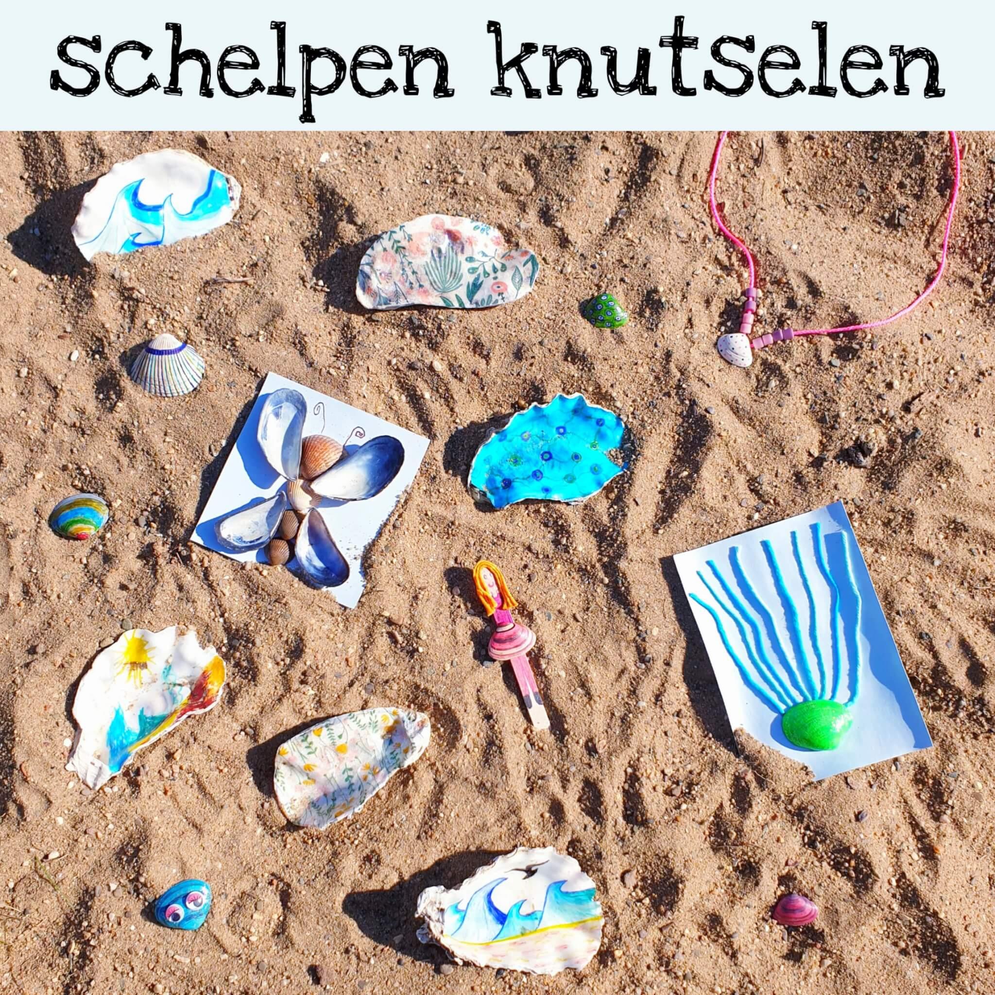 Knutselen met schelpen: ideeën als je met kinderen naar het strand gaat