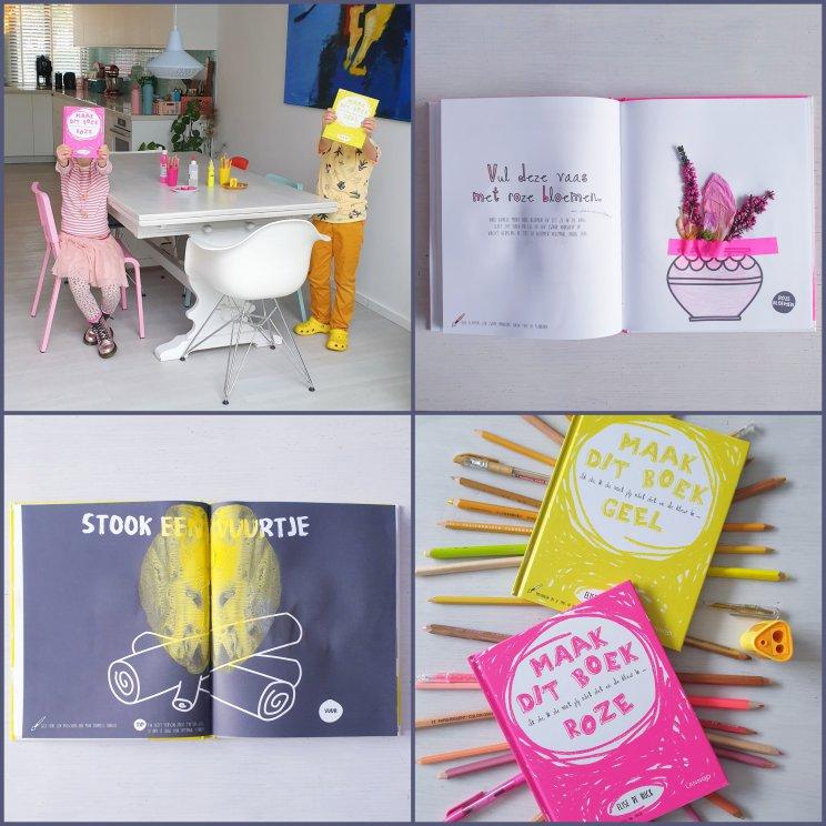 De Leuke Update #34   nieuwtjes, ideeën, musthaves en uitjes voor kids - kleurboek annex doeboek Maak dit boek roze en Maak dit boek geel