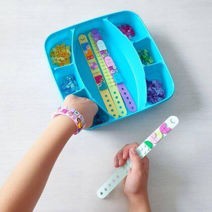 LEGO Dots armbandjes, leuk cadeau voor meisjes die van knutselen en LEGO houden