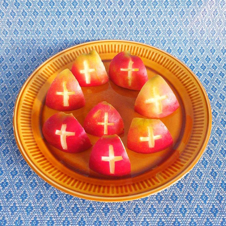 Sinterklaas recepten leuke ideeën om te knutselen met eten- gezonde Sinterklaas appels