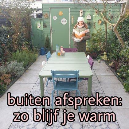 Buiten afsprekenmet vrienden: zo blijf je warm bij wandelen en in de tuin