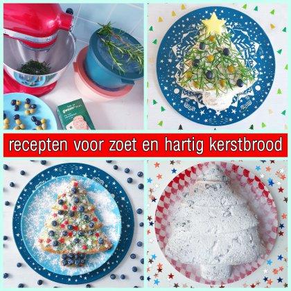 Recept voor hartig kerstbrood + recept voor gezond zoet kerstbrood