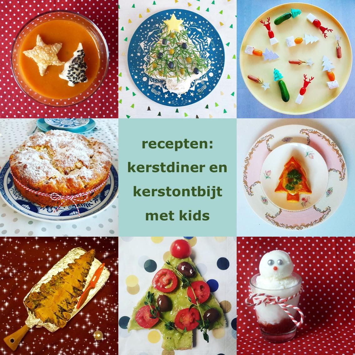 Recepten voor kerstdiner en kerstontbijt met kinderen thuis en op school