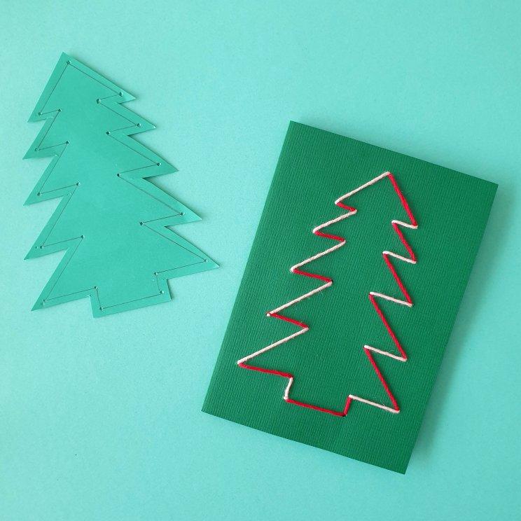 kerstboom borduren