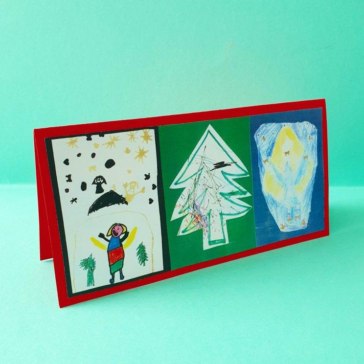 kerstkaarten knutselen met kinderen - tekenen
