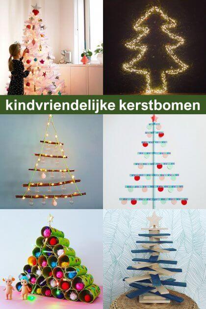 Ideeën voor een kindvriendelijke kerstboom, ook duurzame keuzes, voor baby, peuter, kleuter en oudere kinderen
