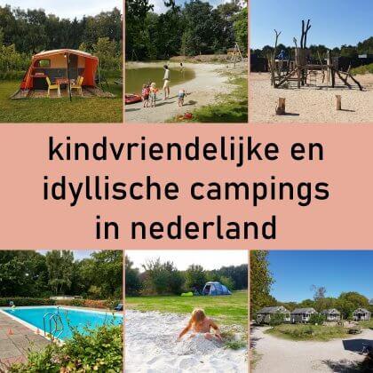 Kamperen met kinderen: idyllische kindvriendelijke campings in Nederland. Kamperen is hartstikke leuk, zeker met kinderen. Ze rennen de hele dag buiten rond met andere kinderen. Ik heb wel vrij specifieke eisen over wat ik leuk vind. Een idyllische camping zonder massavermaak, met leuke faciliteiten voor kinderen en waar je bij voorkeur ook kunt zwemmen. Het is even zoeken, maar ze zijn er wel degelijk. Ik vond een heleboel leuke idyllische kindvriendelijke campings in Nederland. Plekken die leuk zijn voor kinderen en ouders.