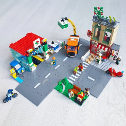 LEGO City stadscentrum 60292: veel speelmogelijkheden & nieuwe dingen, waaronder nieuwe straatplaten