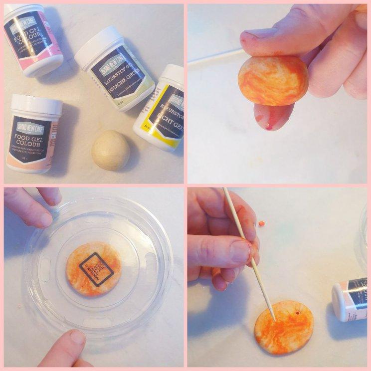 DIY paastakken: paashangers van zoutdeeg klei en strijkkralen knutselen met kinderen, gezellig met Pasen