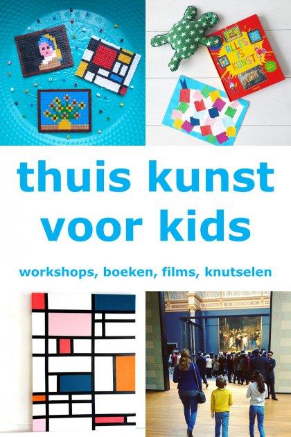 Thuis kunst voor kinderen: online workshops, boeken en knutselen