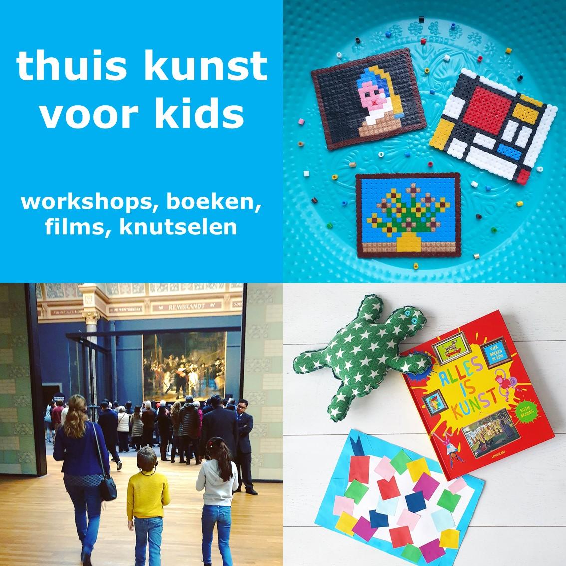 Kunst voor kinderen thuis: online workshops, boeken en knutselen