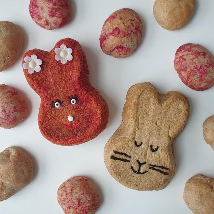 Knutselen met eten voor Pasen: zoete recepten en ideeën | paasbrood voor paasontbijt, paasbrunch of paaslunch