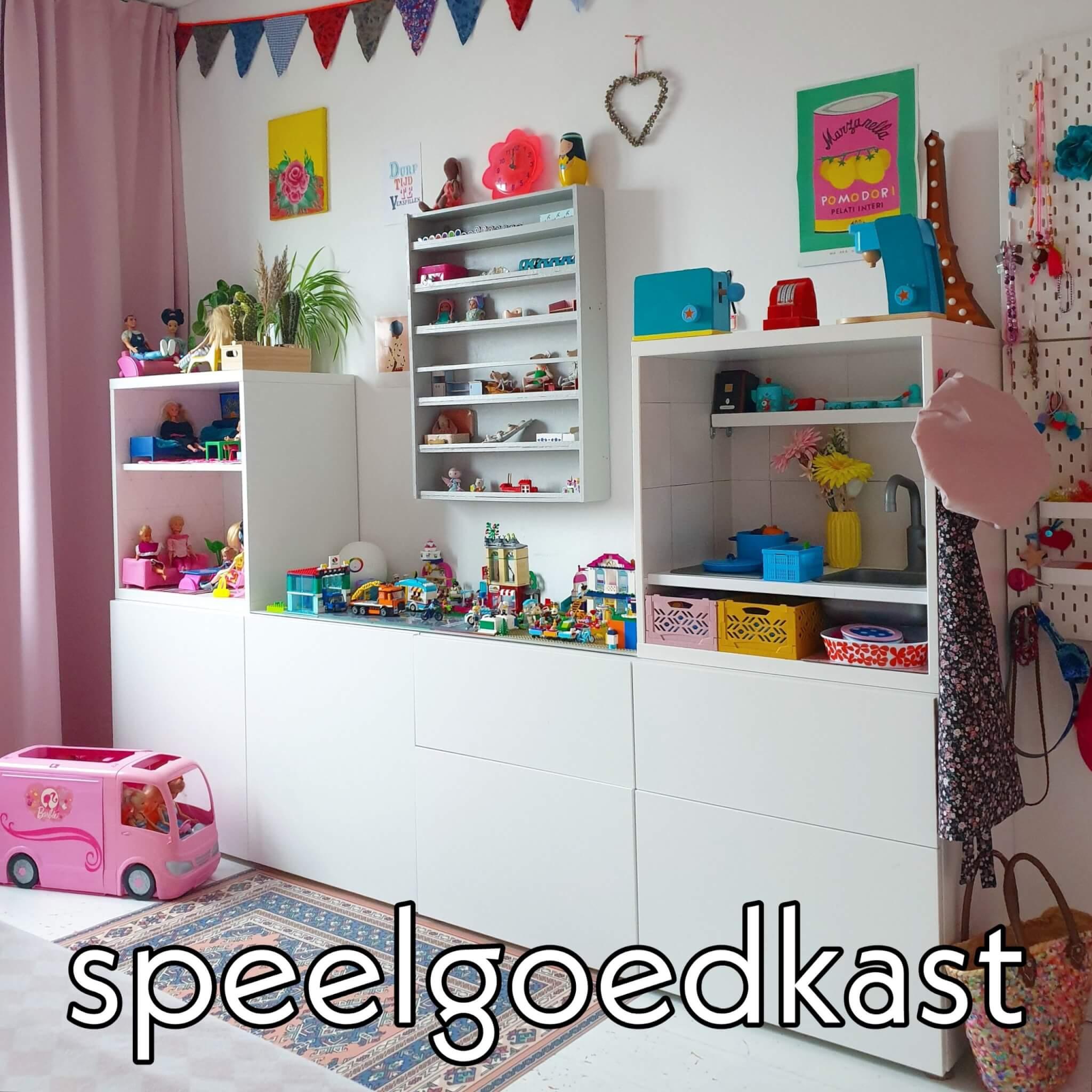 Ikea hack: DIY speelgoedkast met LEGO tafel, kinderkeuken en Barbie huis